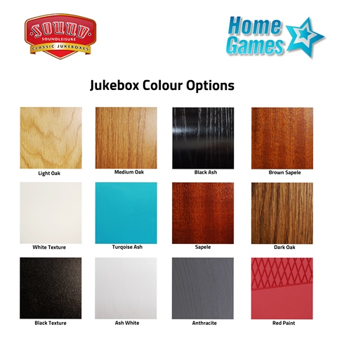 Jukebox Colour Swatch Chart