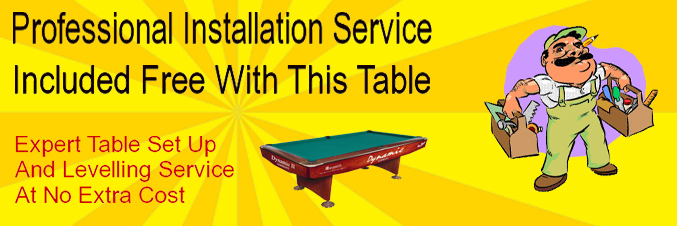 Free Professional Installation With This Table