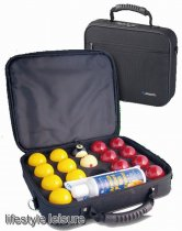 Super Aramith Pro Cup 2 inch UK Red and Yellow Set in Carry Case