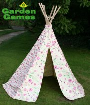 Flower & Butterfly Wigwam Playtent