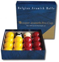 Aramith Pro Cup Red and Yellow 2 Inch Pool Ball Set