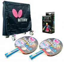Butterfly Indoor 2 Player Table Tennis Pack and Cover