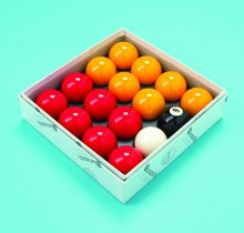 Aramith Red and Yellow 2 Inch UK Pool Ball Set
