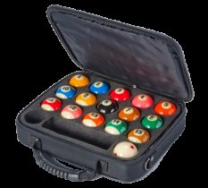 Aramith Pro Cup American Pool Balls and Carry Case