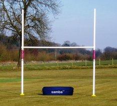 Rugby Post - 9'6 Wide x 12' High. Crossbar 6'6. (1 or 2 Posts)