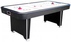 7ft Twister Air Hockey Table - Free Play Home Table Black