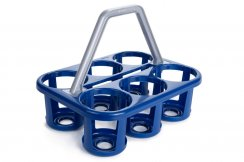 Plastic Water Bottle Carrier - Holds 6 Bottles (Bottles Not Included)