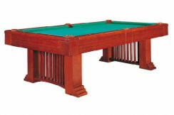 Dynamic Romance 8ft Antique Brown American Pool Table