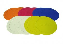 Football Training Flat Disc Markers - Set of 10 Marking Discs