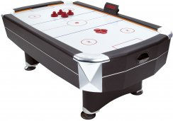 7ft Vortex Air Hockey Table - Black Free Play Model with Accessories