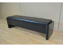 High Gloss Black Bench Pool Table Seat - 140cm/160cm