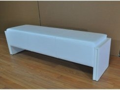 High Gloss White Pool Table Bench Seat - 140cm/160cm