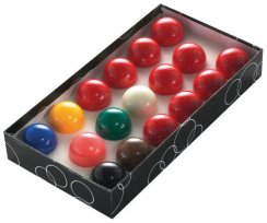 10 Red Snooker Ball Set for UK Pool Tables