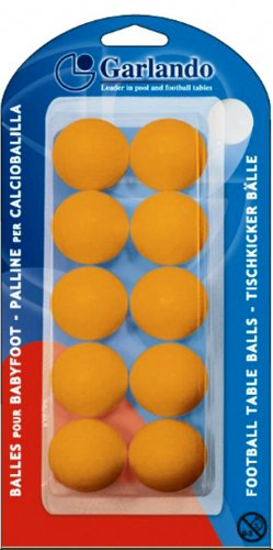 Garlando Orange Table Footballs - Pack of 10