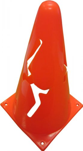Collapsible Football Cone Markers in Red or Yellow - Set of 5