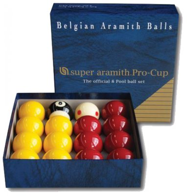 Aramith Pro Cup Red and Yellow Pool Balls