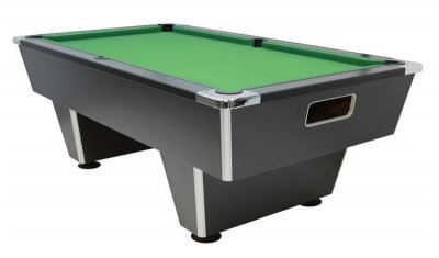 Gatley Club Slate Bed Pool Table - Black Cabinet with Green Cloth