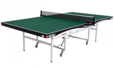 Butterfly Space Saver Indoor Rollaway 25 Table Tennis Table - Green