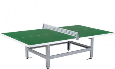 Butterfly S2000 Polymer Concrete/Steel Table Tennis Table - Green - Squared Corners
