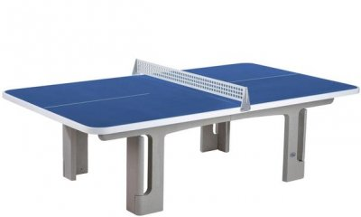 Butterfly B2000 Outdoor Standard Concrete Table Tennis Table - Blue - Rounded Corners