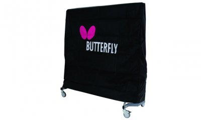 Black Butterfly Table Tennis Table Cover