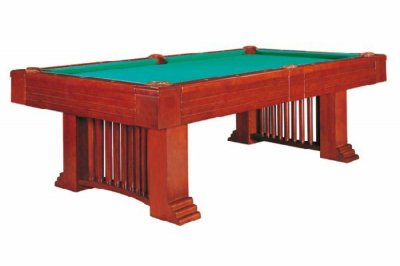 Dynamic Romance 8ft American Pool Table in Antique Brown