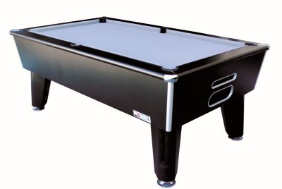 Optima Classic Slate Bed Pool Table - Black Cabinet