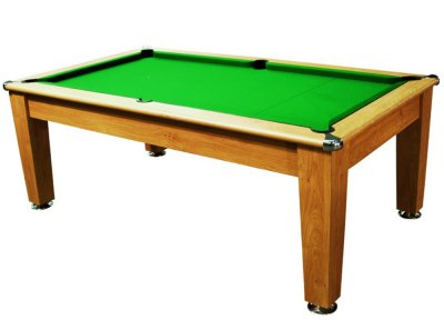 Roma Pool Dining Table - Winchester Oak Finish