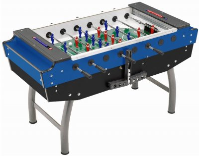 FAS Striker Football Table in Blue - No Coin Mechanism