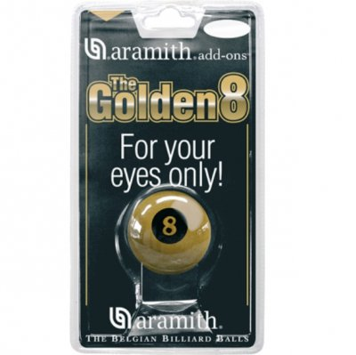 Aramith Golden 8 Ball 2 1/4 Inch Size in Blister Pack