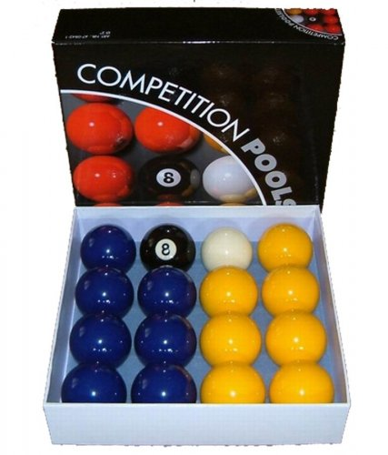 Blue and Yellow 2 Inch Economy Pool Ball Set