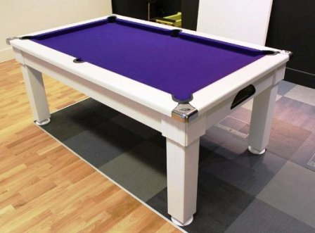 White Windsor Pool Dining Table