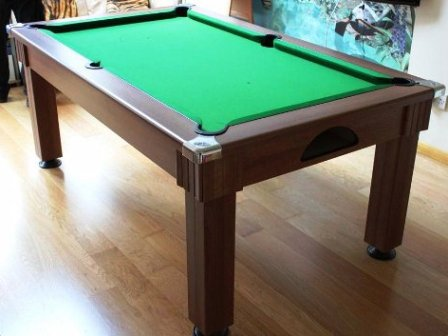 Dark Walnut Windsor Pool Dining Table