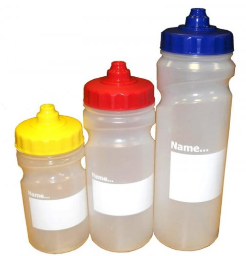 Pack of 5 Clear Water Bottles - Available in 3 Sizes.
