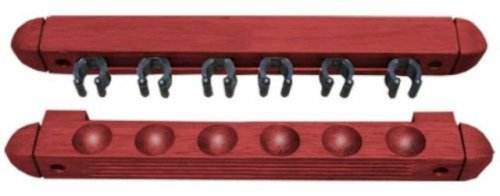 Two Piece Mahogany Wall Mounted Cue Rack