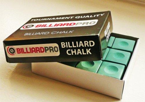 Billiard Pro Pool Chalk - Box of 12 - GREEN