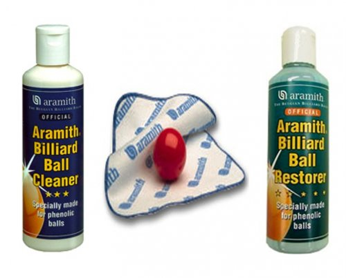 Aramith Ball Cleaning Kit - Cleaner, Restorer and Cloth