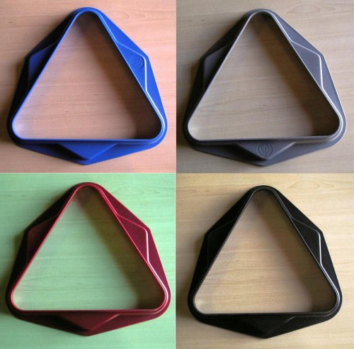 Pool Table Triangles in Red, Black, Grey or Blue