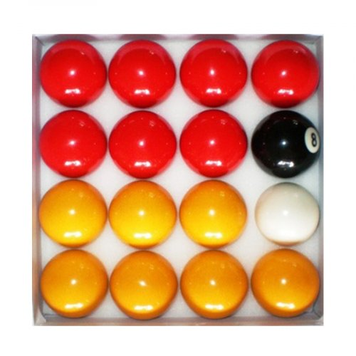 Red and Yellow 2 Inch Economy Pool Ball Set