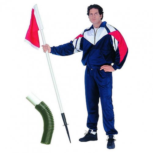 Football Pitch Spring Loaded Corner Flag - Includes Flag (Price Each)