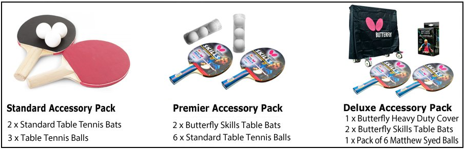Butterfly Table Tennis Accessory Packs