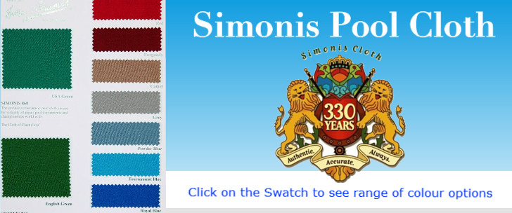 Simonis pool table cloth swatch