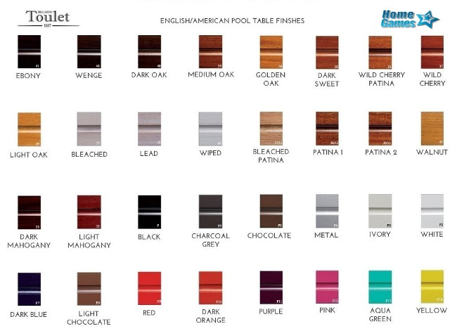 Toulet Club Cabinet Finishes