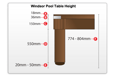 Windsor Pool Table Height Image